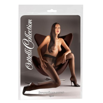 COLLANT APERTI SEXY Crotchless Tights black 2 XL