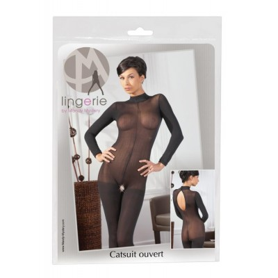 TUTA SEXY Catsuit con colletto in pizzo M/L