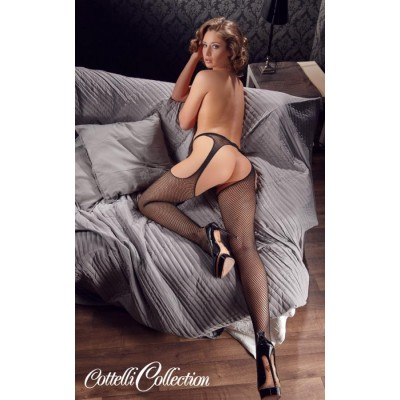 COLLANT SEXY Black Fishnet open Tights L/XL