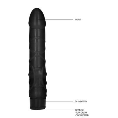 VIBRATORE REALISTICO 9 pollici Slim Realistic Dildo Vibe-Black