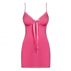 CAMICIA DA NOTTE E PERIZOMA Blackardi chemise & thong pink S/M