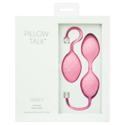 SET 2PZ PALLINE DELL'AMORE Pillow Talk Frisky Rosa