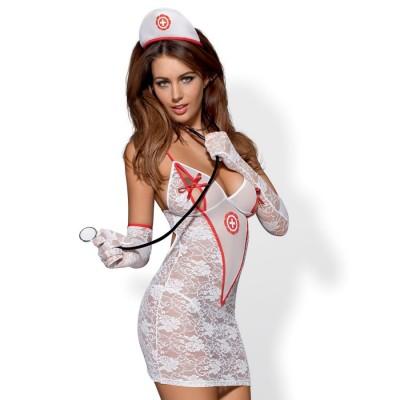 COSTUME DOTTORESSA SEXY Medica dress 5 pcs costume L/XL
