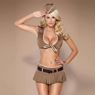COSTUME SEXY 814-CST-4 uniforme soldato 5pz S/M