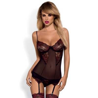 COMPLETO SEXY Musca corset & thong S/M