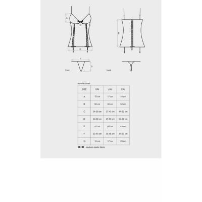 COORDINATO SEXY Auroria corset & thong XXL