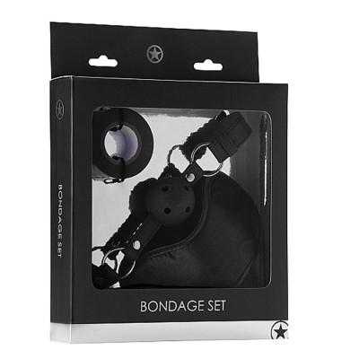 KIT 3 PEZZI Bondage Set - Black