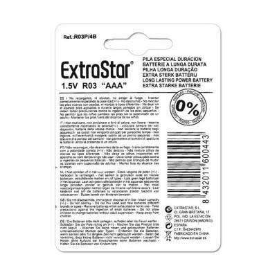 Batterie 1.5V AAA Size 4 pezzi EXTRASTAR