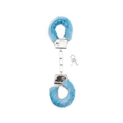 MANETTE MORBIDE Furry Handcuffs - Blue
