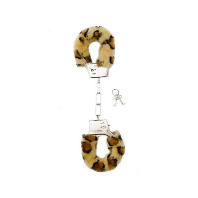MANETTE MORBIDE Furry Handcuffs - Cheetah