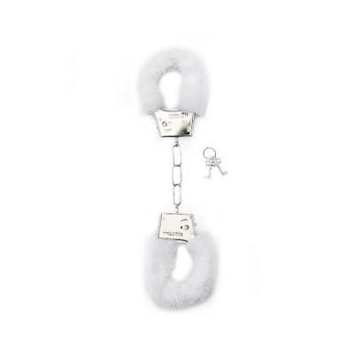 MANETTE MORBIDE Furry Handcuffs - White
