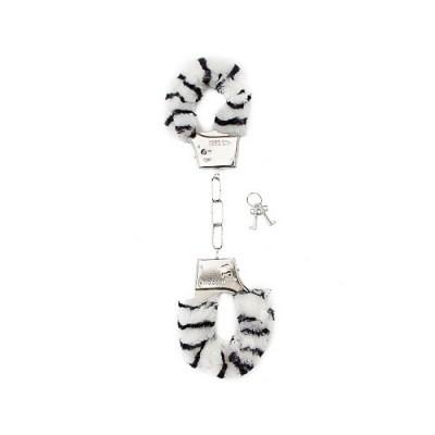 MANETTE MORBIDE Furry Handcuffs - Zebra