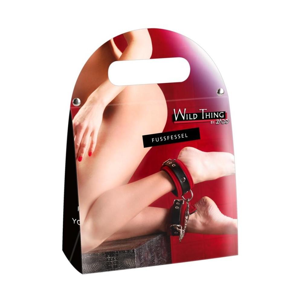 COSTRITTIVI Leather Ankle Cuffs red